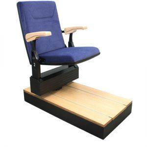 retractable chairs railing system club rail