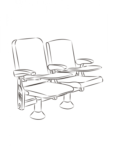 Lecture seating Space Tablet